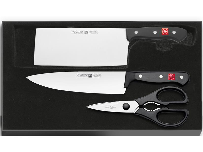 Wüsthof GOURMET Sada 2 nožů + Kuchyňské nůžky 8010