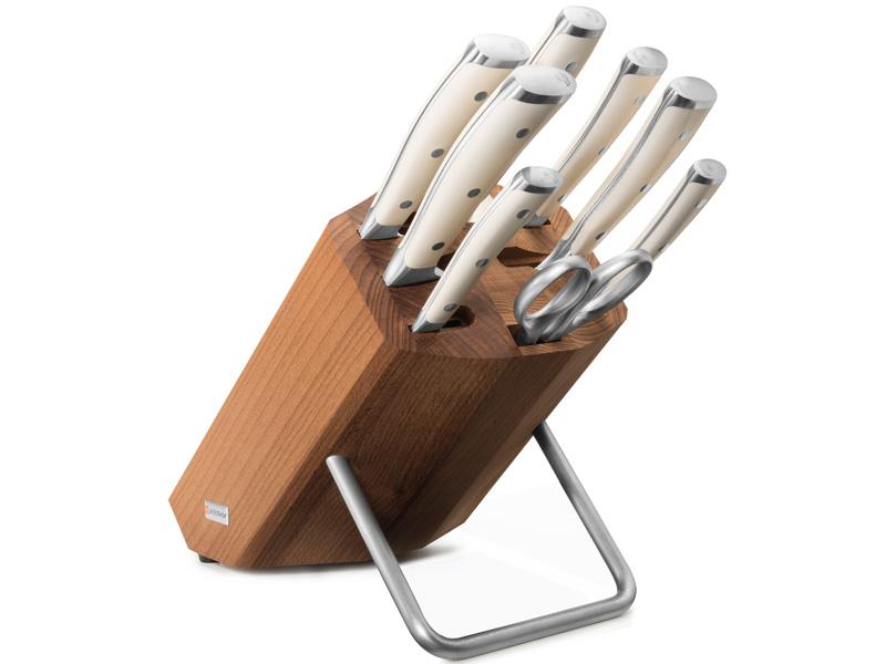 Wüsthof CLASSIC IKON créme Blok s noži - 8 dílů 9879