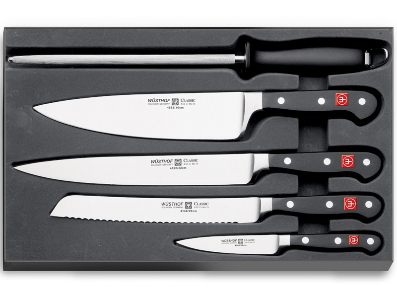 Wüsthof CLASSIC Sada nožů 4 ks + ocílka 9746