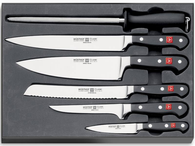 Wüsthof CLASSIC Sada nožů 5 ks + ocílka 9751