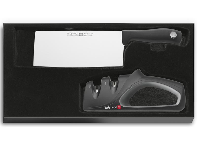 Wüsthof SILVERPOINT Čínský kuchařský nůž + Brousek 9811